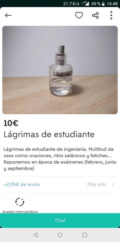 LÁGRIMAS DE ESTUDIANTE