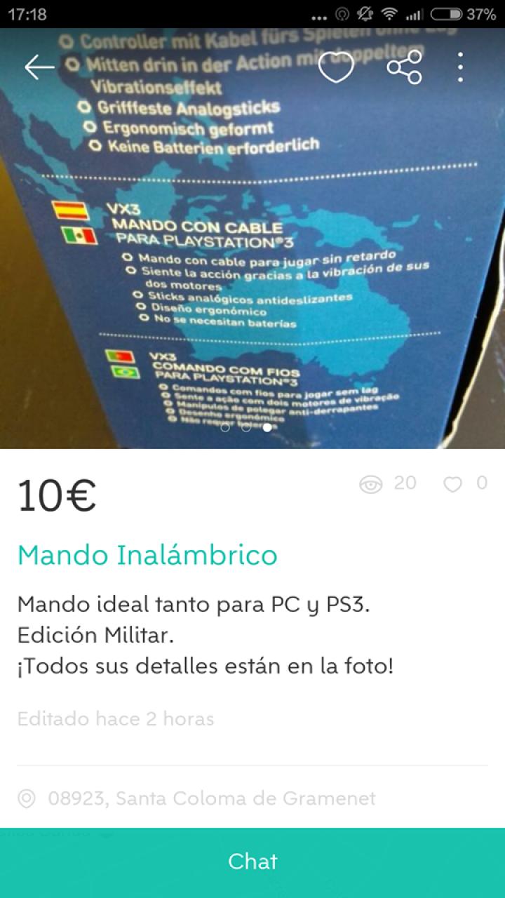 MANDO INALÁMBRICO