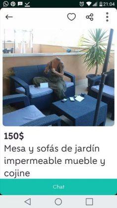 MESA Y SOFÁS DE JARDÍN