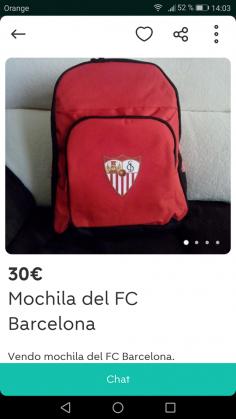 MOCHILA DEL FC BARCELONA