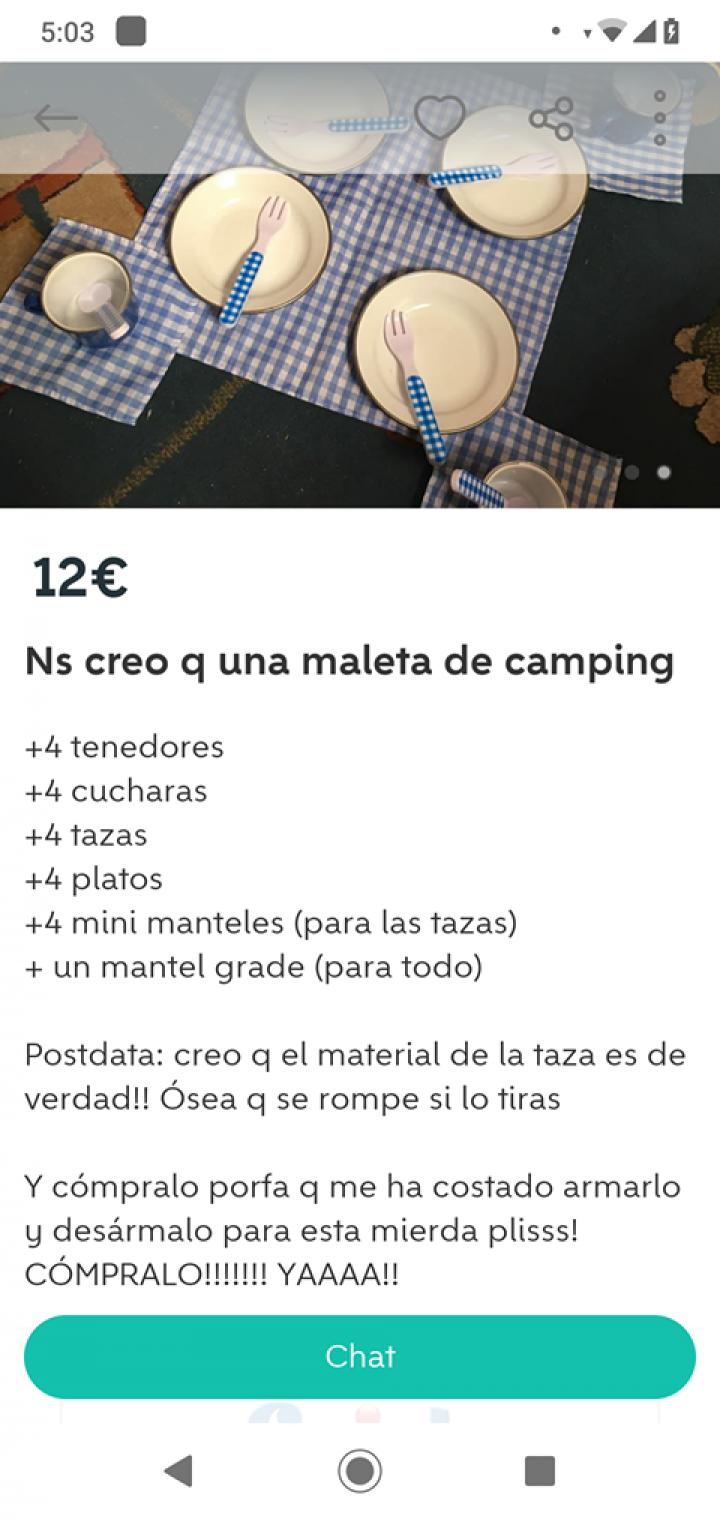 MALETA DE CAMPING