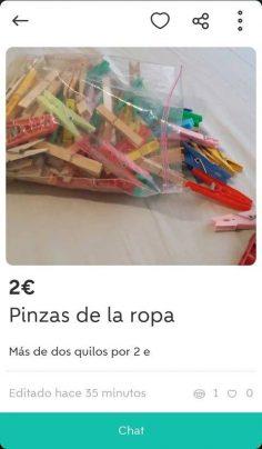 PINZAS DE LA ROPA