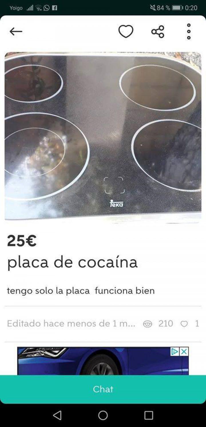 PLACA DE COCAÍNA