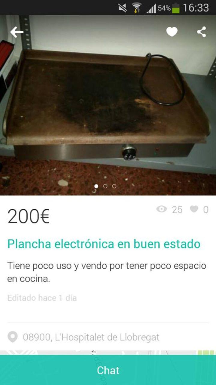 PLANCHA ELECTRÓNICA EN BUEN ESTADO