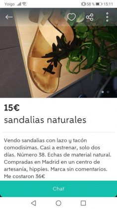 SANDALIAS NATURALES