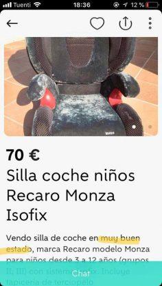 SILLA COCHE NIÑOS
