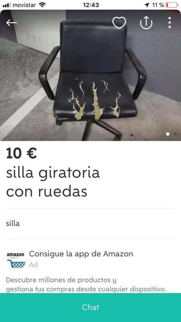 SILLA GIRATORIA CON RUEDAS