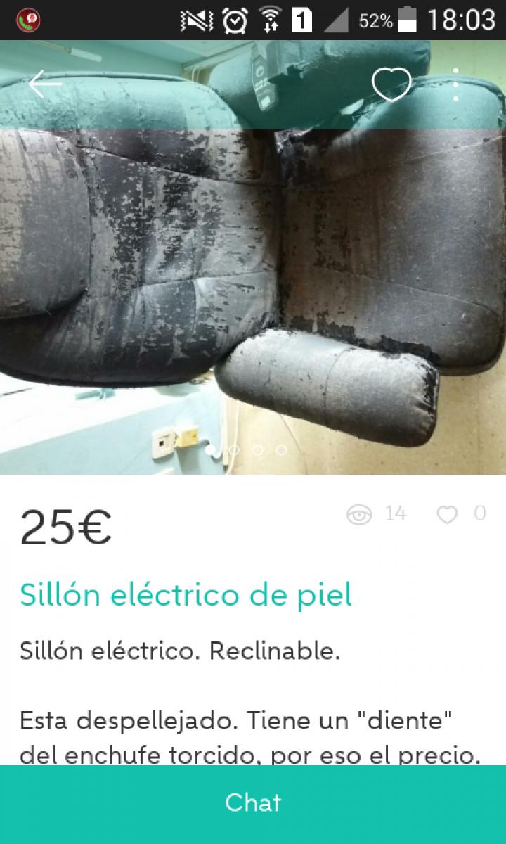SILLÓN ELÉCTRICO PIEL