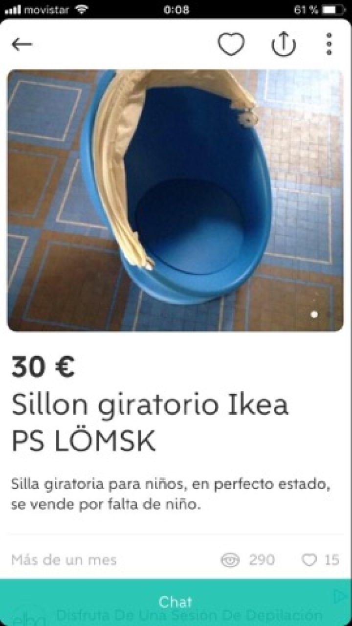 SILLÓN GIRATORIO IKEA