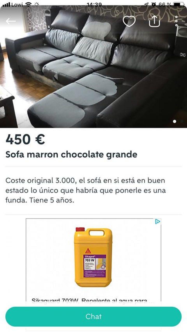 SOFÁ MARRÓN CHOCOLATE
