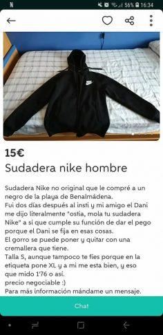 SUDADERA NIKE HOMBRE