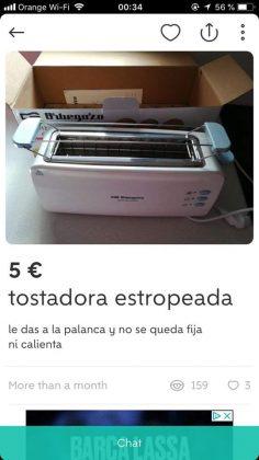 TOSTADORA ESTROPEADA