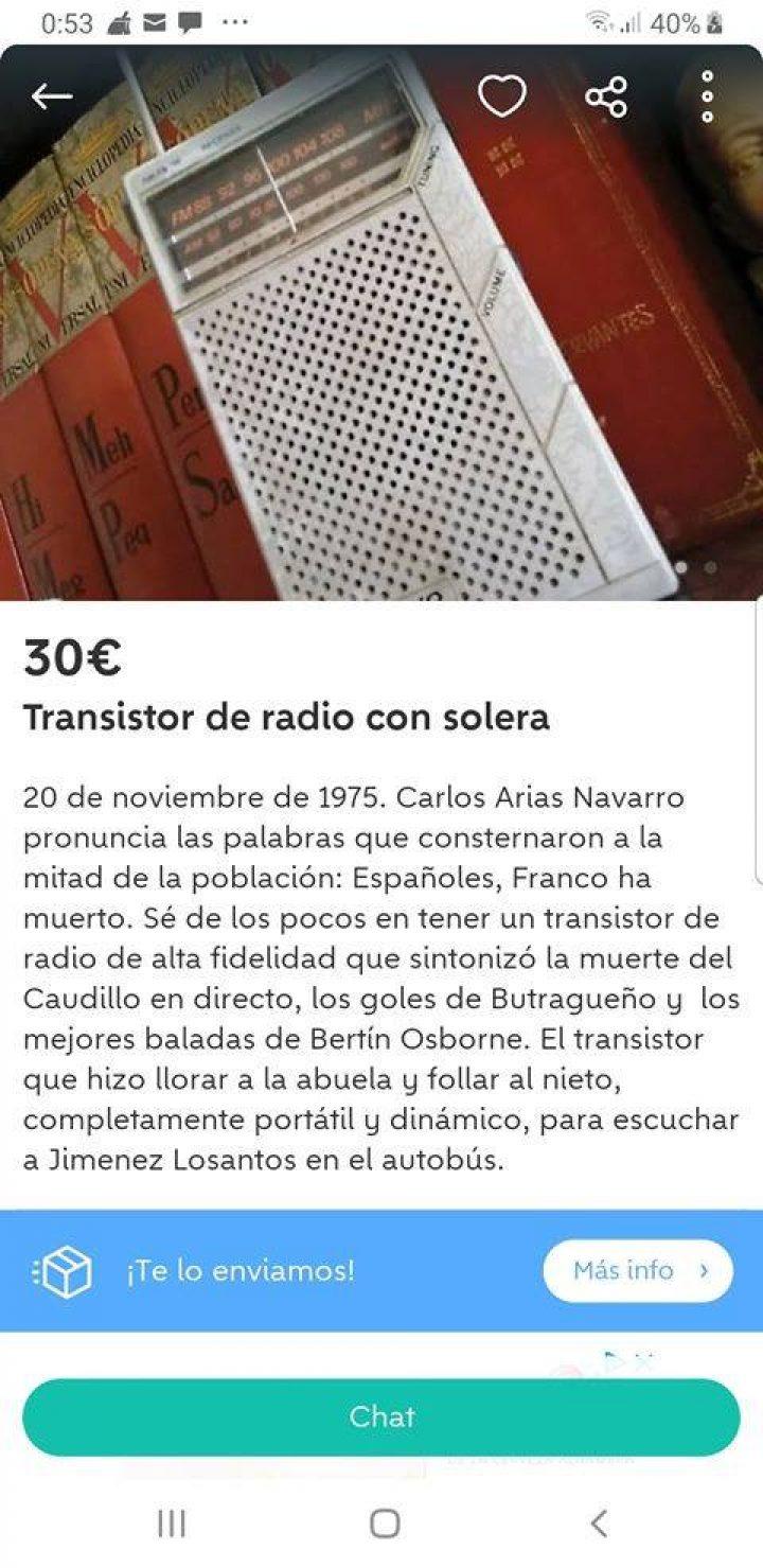 TRANSISTOR DE RADIO