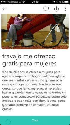 """""""TRAVAJO ME OFREZCO GRATIS A MUJERES"""""""