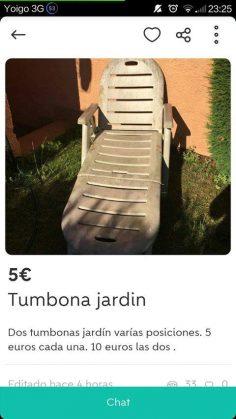 TUMBONAS JARDÍN