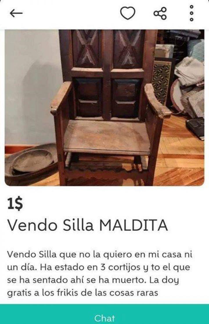 SILLA MALDITA